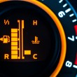 Car speed meter closeup - Stock Photo