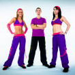 Stock Photo: A group of dance instructors