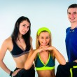 Group of proud fitness instructors — Stock Photo #13888324