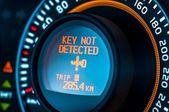 車のスピード メーターのクローズ アップ — ストック写真
