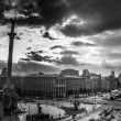 Kiev city life with dramatic sky — Stock Photo