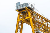 Industrial crane against white — Stock Photo