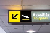 Departure sign at airport — Stock Photo