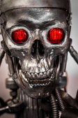 War machine with red eyes — Foto Stock