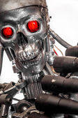 War machine with red eyes — Stock Photo