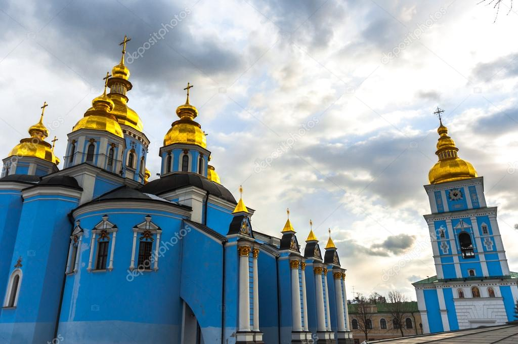 Church in blue colors in europe — Stock Photo #13890567