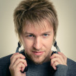 Young man with headphones — Stock Photo #18057083