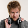 Young man with headphones — Stock Photo #18057085