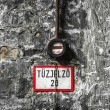 Stok fotoğraf: Fire alarm on old brick wall