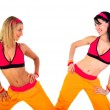 Young fitness instructor girls — Stock Photo