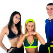 Group of proud fitness instructors - Stock Photo