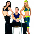 Group of proud fitness instructors — Stock Photo #18059087
