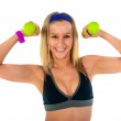 Young fitness instructor woman — Stock Photo