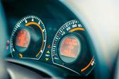 Car dashboard closeup — Stock Photo
