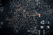 Electronic board closeup photo — Stock fotografie