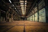 An abandoned industrial interior — Foto Stock