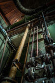 Old rusty pipes angle shot — Stock Photo