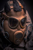 Man in protective suit — Stock Photo