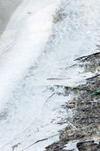 Frozen ice on the shore — Stock Photo