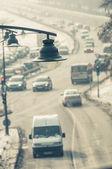 Tráfico en invierno — Foto de Stock