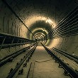 Underground facility with a big tunnel — Stok fotoğraf