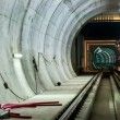 Underground facility with a big tunnel — Foto Stock