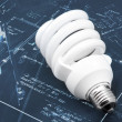Stock Photo: Energy efficient light bulb