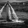 Water flowing from outdoor tap — стоковое фото #19647817