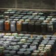 Chemical waste dump with a lot of barrels — Stock Photo #19648007