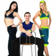 Group of proud fitness instructors — Stock Photo