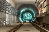 Kolei podziemnej z dużym tunelu — Zdjęcie stockowe