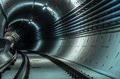 Underground facility with a big tunnel — Stock Photo