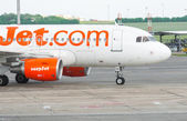 BUDAPEST, HUNGARY - MAY 12: . An Easyjet Airplane at the Airport — Stock Photo