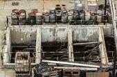 Déchets toxiques dans une usine de puissance — Photo