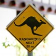 Australian road sign - Stock Photo