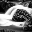 Long exposure photo of a Fast mountain river — Stock Photo