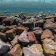 Stock Photo: Rocky coastline angle shot