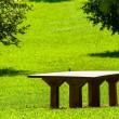 Wooden table at  the park — Stock Photo