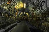 Urban underground tunnel — Stock Photo