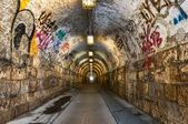 Urban underground tunnel — Stock Photo