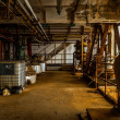 Stock Photo: Industrial interior with storage tank