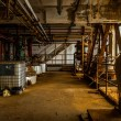 Industrial interior with storage tank — Stock Photo
