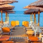 Tropical scene st the beach — Stock Photo