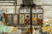 Industrial fuse box on the wall — Stock Photo