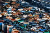 Parecchi barili di rifiuti tossici — Foto Stock