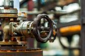 Old industrial water supply parts — Stock Photo