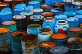 Several barrels of toxic waste — Stock Photo