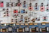 Control panel in old laboratory — Stock Photo