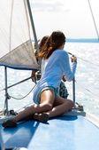 В отпуск парусная лодка — Стоковое фото
