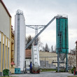 Large industrial silo outdoors — Stock Photo